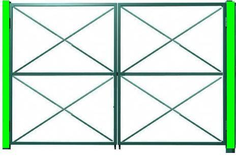 Ворота с подкосами