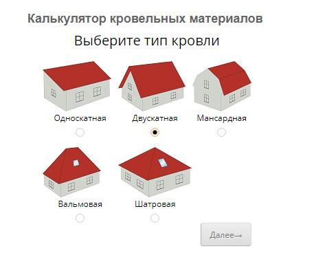 Расчет крыши