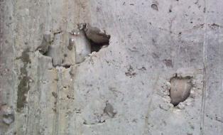 После опалубки раковины на фундаменте